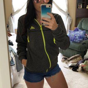 Adidas Zip Up Hoodie Light Jacket Sweatshirt